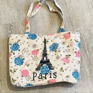 Handbags - Paris Tote Bag Blue Pink Cream Handbag Purse Books